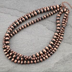 """Navajo Style Pearl Necklace 18"""""""